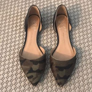 Camo mohair pointed flats - great condition!